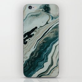 Tranquil Arctic Painting Marble iPhone Skin