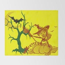 Sassy Little Witch Throw Blanket
