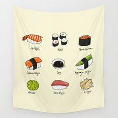 Sushi Days Wall Tapestry