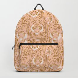 Tigers in Blush + Gold Backpack