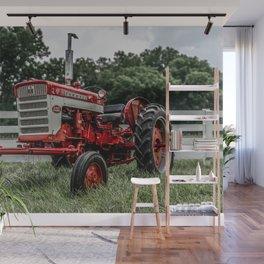 International Harvester Farmall 240 Red Tractor McCormick Deering Wall Mural