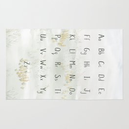 A Quiet Meadow Printed Alphabet Rug