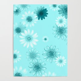 Multicolored natural flowers 18 Poster