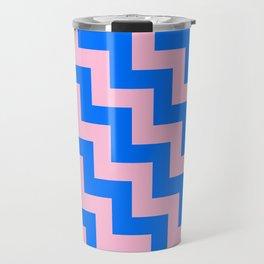 Cotton Candy Pink and Brandeis Blue Steps LTR Travel Mug