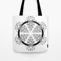 medicine Tote Bags featuring Medicine Wheel by Verdant Winter