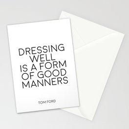 TOM FORD QUOTE Fashion Print Fashion Wall art Dressing Well is a form of good manners Printable Art Stationery Cards