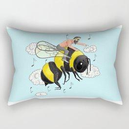 Flight of the Bumblebee by Nicolai Rimsky-Korsakov. Rectangular Pillow
