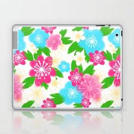 04 Pattern of Watercolor Flowers Laptop & iPad Skin