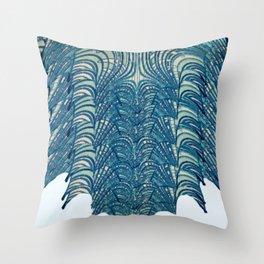 Blue Deco Throw Pillow