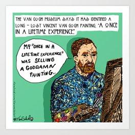 """""""Saturday Post"""" Van Gogh cartoon Art Print"""