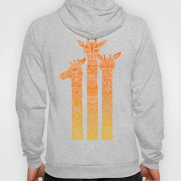 Giraffes – Orange Ombré Hoody