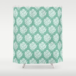 The Bloom of Okra Shower Curtain