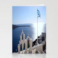 greece Stationery Cards featuring Greece by Shine Like Sunbeams
