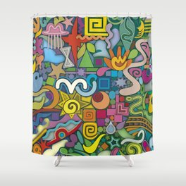 Fulfilled Tree Shower Curtain