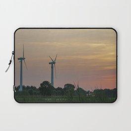 ad solis occasum ventus turbines ab Horumersiel Laptop Sleeve
