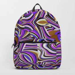 Retro Renewal - Purple Waves Backpack
