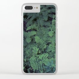 Fern Leaf Pattern Clear iPhone Case