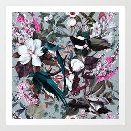 Floral and Birds XXIV Art Print