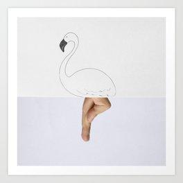 Flaminger Art Print