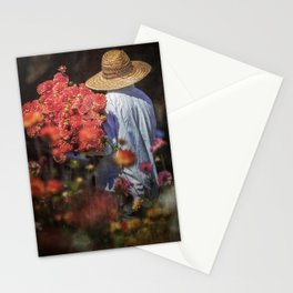 Picking the Flowers Stationery Cards