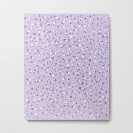 Purple terrazzo pattern Metal Print