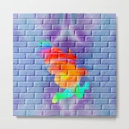 Graffity eagle on brick wall Metal Print