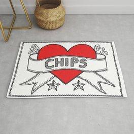 I Heart Chips Rug