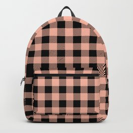 Plaid (pink/black) Backpack
