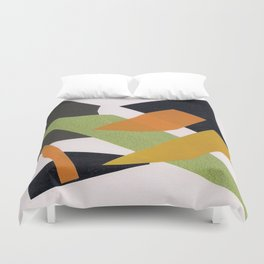 Abstract multicolor ing Duvet Cover