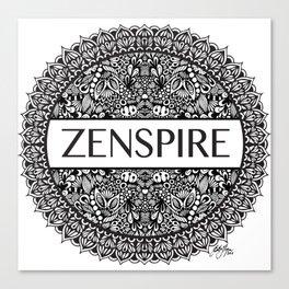 Zentangle - Zenspire  Canvas Print