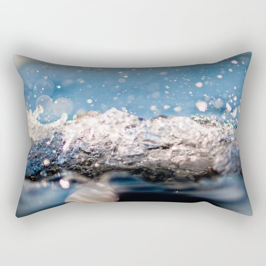 Water Splash Rectangular Pillow