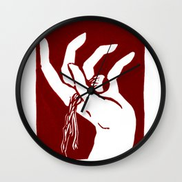 Comedy Red Wall Clock