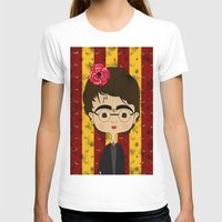 potter T-shirts featuring Frida Potter by Camila Oliveira