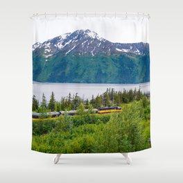 Alaska Passenger Train - Bird Point Shower Curtain