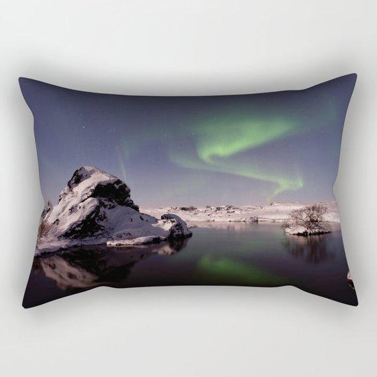 Northern Lights XVV Rectangular Pillow