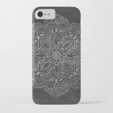 Wood Mandala - Silver iPhone 7 Slim Case