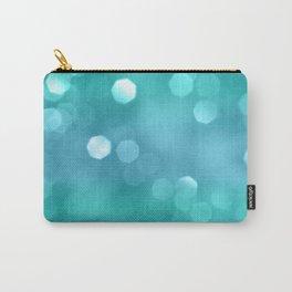 Aqua Blue OCEAN Bokeh #1 #shiny #decor #art #society6 Carry-All Pouch