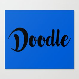 Doodle (for artists) Canvas Print