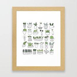 Spiky Succulents Framed Art Print
