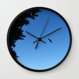 Eagle Silhouette // Nature Photography Wall Clock