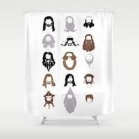 nori Shower Curtains featuring The Bearded Company by Paranoia mit Sahne