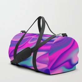Liquid Bold Vibrant Colorful Abstract Paint in Blue, Pink and Purple Duffle Bag