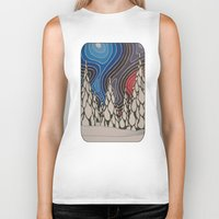 aurora Biker Tanks featuring Aurora by The art of Summer Breeze