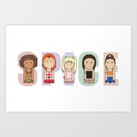spice girls Art Prints featuring Spice Girls by Big Purple Glasses