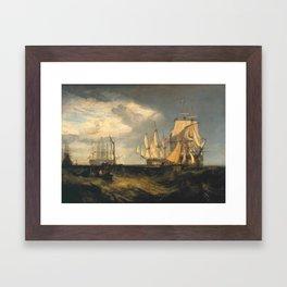 Joseph Mallord William Turner 1775–1851   Spithead Two Captured Danish Ships Entering Portsmouth Har Framed Art Print