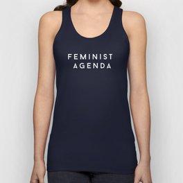 FEMINIST AGENDA (white) Unisex Tank Top