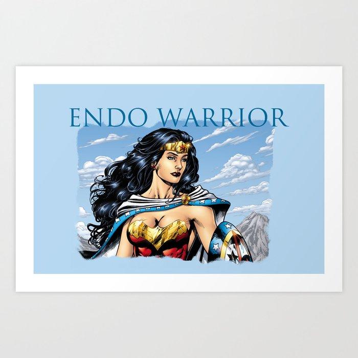 Endo Warrior - Fight Endometriosis Art Print