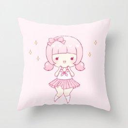 all pink Throw Pillow