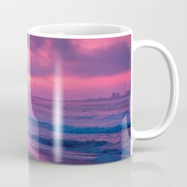 Stunningly Beautiful Shoreline At Breathtaking Sundown Lilac Saturation Ultra High Definition Coffee Mug