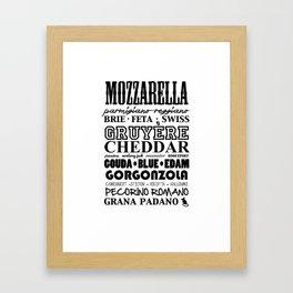 Cheese cravings.. Framed Art Print
